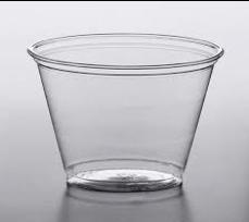 9OZ Pet Clear Squat Cup 1