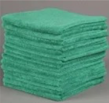 Green 16X16 Microfiber Towels 1