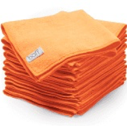 Orange 16X16 Microfiber Towels 1