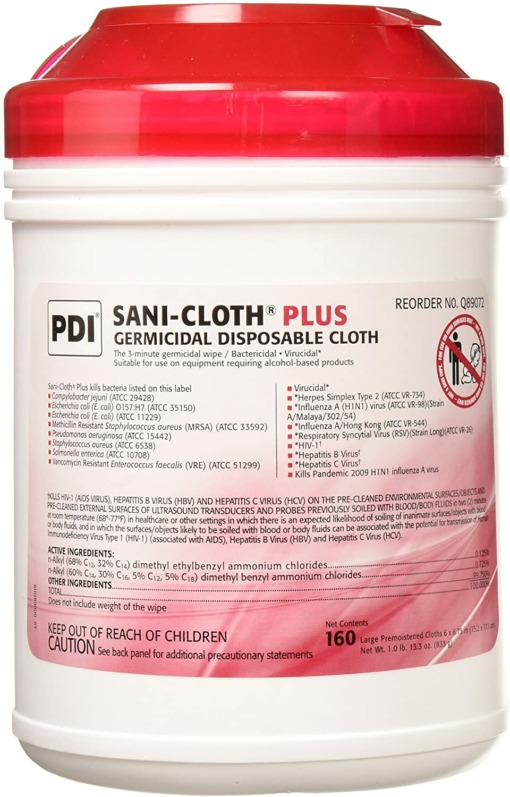 PDI Sani-Cloth Plus Red Cap 2