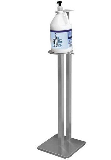 Aluminum Sanitizer Dispenser Stand 1