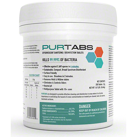 Purtabs Disinfecting Tablets 3.3G 1