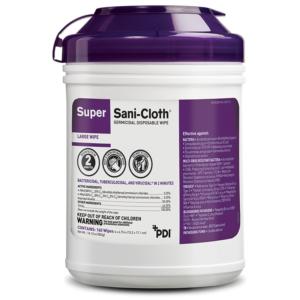 PDI XL Super Sani-Cloth Purple Cap Germicidal Wipes 1