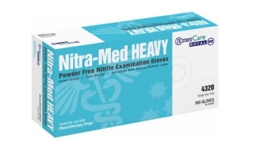 100% Nitrile Gloves by Nitra-Med 5 Mil 4320 Series 1